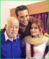 Krishna-Abhishek-with-his-father-and-sister