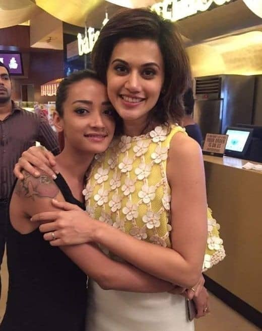 With Taapsee Pannu