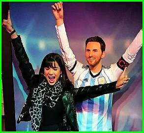 With leo Messi